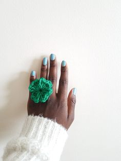 Womens Shamrock Ring - Gifts for Her - St. Patrick's Day - Gift for Women - Cute Rings for Her - Greenery Colored Ring by SweetlyVersatile on Etsy