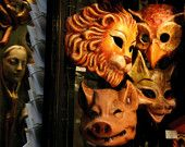 Animal Masks - Halloween - 8X10 Original Fine Art Photograph