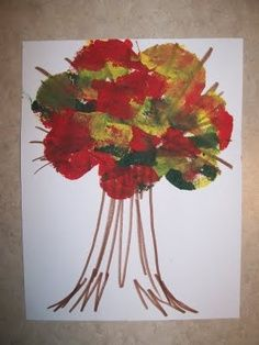 Fall craft- link doesn't take you to the craft, but picture is good for idea.