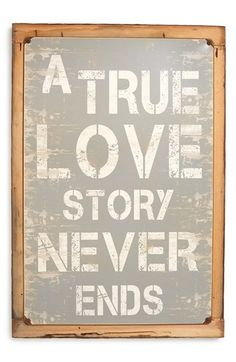 PONCHO & GOLDSTEIN 'True Love Story' Sign available at #Nordstrom, made in the USA