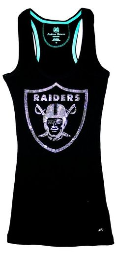 Oakland Raiders Bling Sparkle Jersey Tank Top or Tee 84528532b