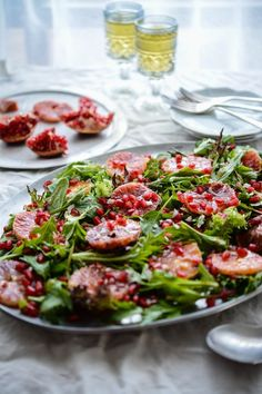 Blood Orange and Pomegranate Salad - a delightfully tart and refreshing dish
