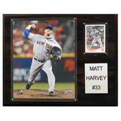 C and I Collectables MLB 15W x 12H in. Matt Harvey New York Mets Player Plaque - 1215MHARVEY