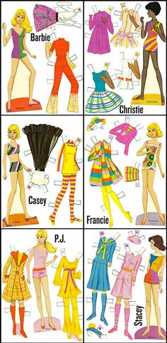 Paper dolls-Barbie and friends
