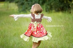 Las niñas arándano Avalon Fluctuatión Vestido