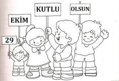 29 Ekim Cumhuriyet Bayramı Boyama Sayfaları - dersteknik.com