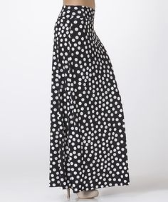 This Black & White Polka Dot Maxi Skirt by BOLD & BEAUTIFUL is perfect! #zulilyfinds