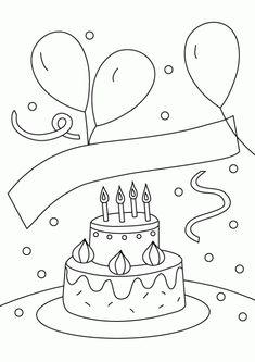 Resultado De Imagen Para Confeti Colorear Happy Birthday Coloring PagesColoring Pages For KidsColoring To PrintColoring SheetsColor CakeKids