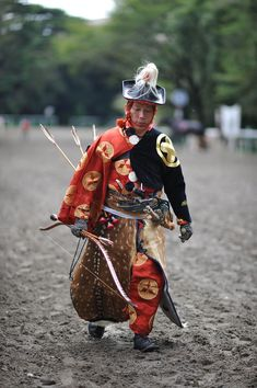 Yabusame mounted archer (on foot)