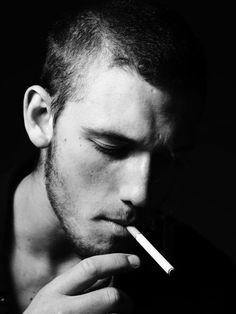 Alex Pettyfer / Smoking Black and White Photography