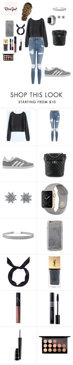 """""""Untitled #97"""" by aseel18 ❤ liked on Polyvore featuring Topshop, adidas Originals, Chanel, Disney, Humble Chic, Agent 18, yunotme, Yves Saint Laurent, NARS Cosmetics and Christian Dior"""