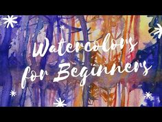 Watercolor For Beginners Course Introduction - YouTube Watercolor Paintings, Watercolors, Painting Process, Neon Signs, Painting Tutorials, Wall Art, Illustration, Artist, Youtube