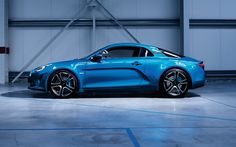 Scarica sfondi Renault Alpine A110, 2018 auto, sportcars, blu Alpine A110, le auto francesi, Renault