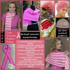 Show your support with one of these 20 free Breast Cancer Awareness Crochet Patterns.