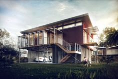 Kiribati House by Sérgio Merêces | Architecture | 3D | CGSociety