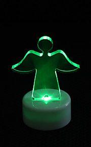 diseño de ángel de luz LED noche colorida fiesta de Navidad decoración