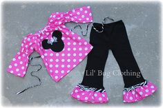 Minnie Mouse Hot Pink and Zebra Peasant pant Set  sold by Lil Bug Clothing. Shop more products from Lil Bug Clothing on Storenvy, the home of independent small businesses all over the world.