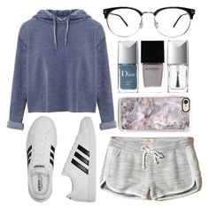 """Relaxing Day"" by lovely-lizzye ❤ liked on Polyvore featuring Miss Selfridge, Hollister Co., adidas, Christian Dior and Witchery"