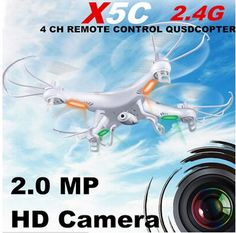 Syma X5C Explorers RC Quadcopter 2.4G 4CH 6axis gyro Remote Control RC Helicopter UFO With HD Camera RTF (Small Package) - http://www.midronepro.com/producto/syma-x5c-explorers-rc-quadcopter-2-4g-4ch-6axis-gyro-remote-control-rc-helicopter-ufo-with-hd-camera-rtf-small-package/