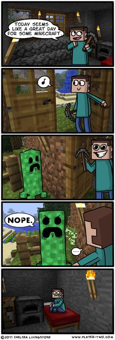 Minecraft is a procedurally-generated game of world exploration, resource harvesting, and freeform construction. Minecraft supports local and online multiplayer, and features are being added regularly. Video Minecraft, Minecraft Comics, Minecraft Funny, How To Play Minecraft, Minecraft Party, Minecraft Stuff, Minecraft Posters, Creeper Minecraft, Minecraft Cake