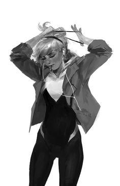 Spider-Gwen: ponytail by merkymerx on @DeviantArt