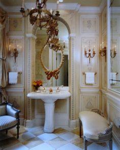 lovely bathroom using panels