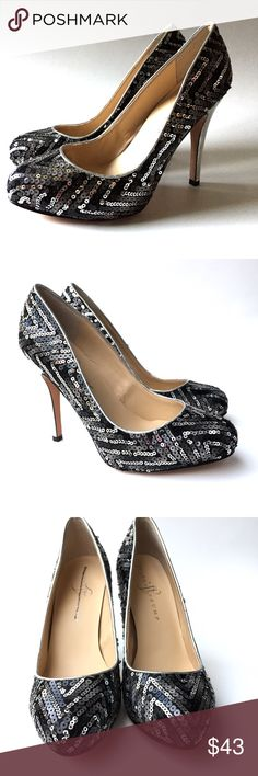 "Ivanka Trump Sequined Platform Pumps, Size 8, EUC Ivanka Trump Sequined Platform Pumps, 4.5"" Heels, Run Small Like 7.5"", Size 8, EUC Ivanka Trump Shoes Platforms"