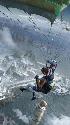 PUBG Girl Parachute Vikendi – Mordeo