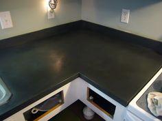 Chalk painted Kitchen Countertops