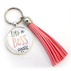 Quirky Secret Santa / Kris Kringle Ideas: Like a Boss - Tasseled Key Ring (large)