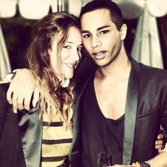 be91367287ce Aurélie Bidermann and Olivier Rousteing at the Chateau Marmont for the  Balmain Dinner !