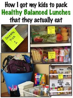 My systems of letting my kids choose and pack their own lunch box items for school, all while keeping their meals healthy and balance.  I no longer have to spend time in the morning doing it for them.. and they are actually EATING what they pack!  A great way to teach them independence!  via www.TheKimSixFix.com