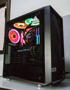 Gaming Pc Build, Gaming Pcs, Gaming Room Setup, Pc Setup, Gaming Computer, Gaming Rooms, Pc Gamer, Diy Pc, Recording Studio Design