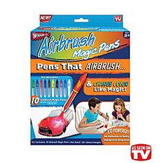 AIR BRUSH   ...MAGIC PENS..........PENS THAT AIRBRUSH by jam on it on Opensky