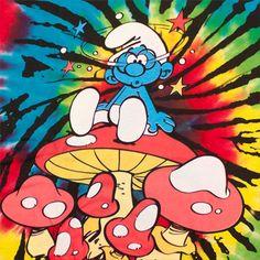 70s Deadhead Smurf http://smurfs.fashionstylist.com/cj/teesforall/smurfs/the-smurfs-mushroom-rainbow-tie-dyed-graphic-tee-shirt-i.jpg