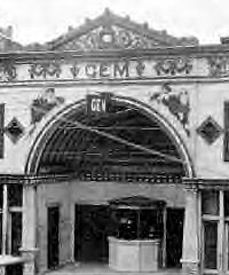 Original Gem Theater in Cairo, Illinois (pronounced care-o) before fire gutted it in 1934.
