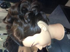 Hair-up on block today!