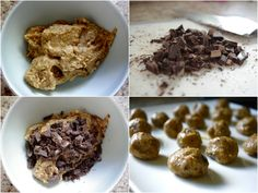 """Healthy Chocolate-Chip Cookie-Dough Protein """"Blizzard"""" ... for real!!! (gluten free & can be vegan too!)"""