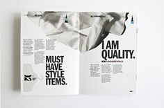 WE Fashion - Brand Identity by Denis Bégin, via Behance