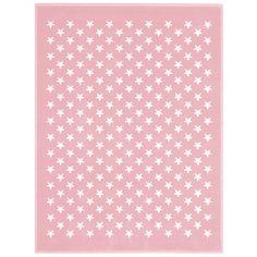 Lorena Canals Teppich Kinderteppich Sterne Rosa Acryl