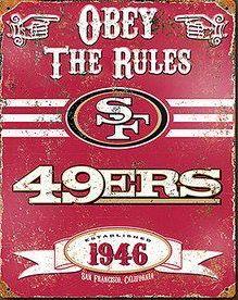 71faf9fe9c9 San Francisco 49ers Embossed Metal Sign San Francisco 49ers