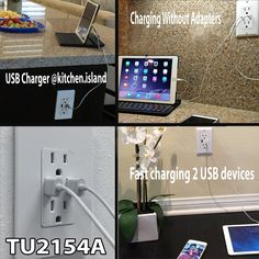 TOPGREENER TU2154A 4A High Speed Dual USB Charger Outlet 15A TR Receptacle…