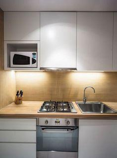 Micro Kitchen, Kitchen Pantry, Kitchen Cabinets, Grey Kitchens, Home Kitchens, Modern Kitchen Design, Modern Design, Condo Interior Design, Small Kitchen Layouts
