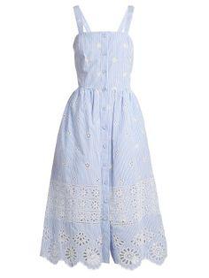 Super dress blue and white polka dots Ideas Trendy Dresses, Simple Dresses, Blue Dresses, Vintage Dresses, Casual Dresses, Summer Dresses, Below The Knee Dresses, White Polka Dot Dress, Polka Dots