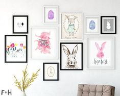 Spruce up your gallery wall for Easter with 25 free modern Easter prints. Perfect for minimlaists, modernist and lovers of Scandi design. Free Art Prints, Wall Art Prints, Free Printable Art, Free Easter Printables, Easter Crafts, Easter Ideas, Easter Decor, Easter Hunt, Spring Crafts