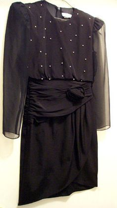 Little Black Dress Vintage STENAY Size 4 Evening by mrnglry, $29.00