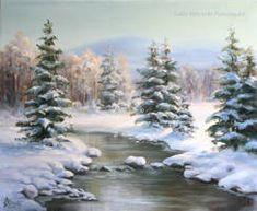 68 new ideas landscape art ideas winter scenes Canvas Painting Landscape, Painting Snow, Winter Painting, Winter Art, Watercolor Landscape, Landscape Art, Winter Scene Paintings, Christmas Paintings, Christmas Art