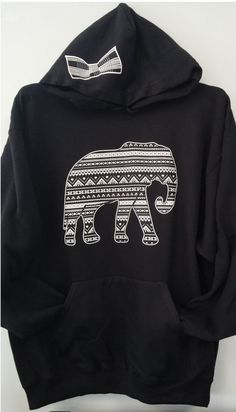 Pullover Hoodie  Aztec Elephant Combo by TomorrowTs on Etsy, $29.99