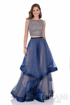 Terani Couture 1611P1369 our two-piece OMG dress for prom or formal #ipaprom