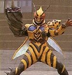 Sting King was a hornet monster used by Astronema. Sting King got on Waspicable's case for not being evil. He attacked Cassie and Waspicable protected her. Sting King was destroyed by the Astro Megazord. Sting King appeared again, summoned to help Destructipede.